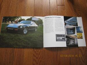 1979 Datsun 280ZX Spec Pamphlet Sarnia Sarnia Area image 4