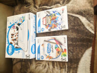 wii draw pad, with one draw pad game and a regular wii game
