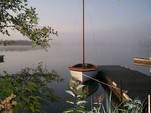 Classic Rare 1950's British Solid Mohogany antique Sloop Rigged