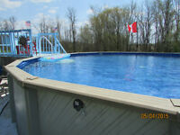 Professional Pool above ground Installation Service Included in