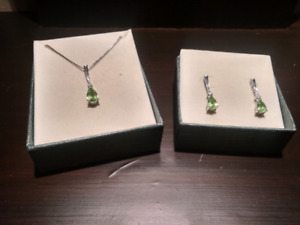 Mappins Necklace and Earrings