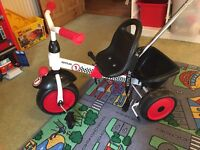 Kettler Adjustable trike with harness and handle
