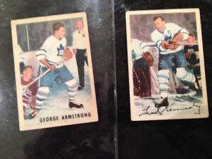 1953-4 PARKHURST NHL CARDS GEORGE ARMSTRONG #11 TED KENNEDY #7