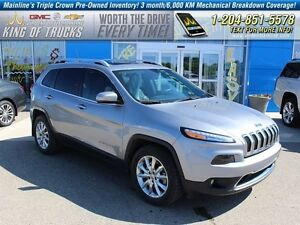 2015 Jeep Cherokee 4x4 Limited | V6 | HTD Leather  - Bluetooth -