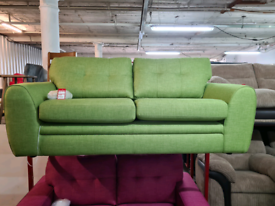 Brand New DFS Fabric Sofa In Lime RRP £599