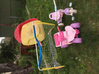 Girls play kitchen , outdoor toys