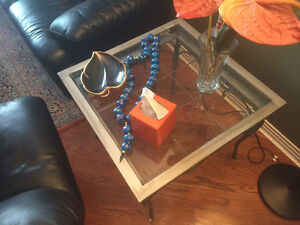 3 Piece Glass Set (2 coffee tables + 1 living room table)