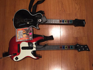 PS4 / PS3 Wireless guitar x 2 with Guitar Hero 3
