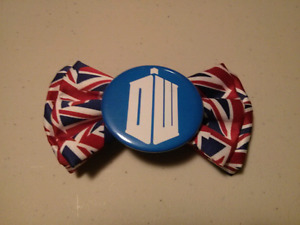 Doctor who union jack bow tie