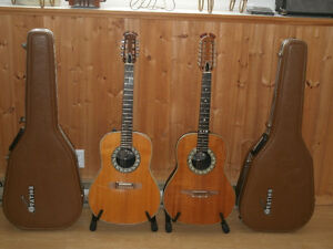 OVATION COLLECTORS ,1974 1624-4 6 STRING & 1972 1115-4,12 STRING
