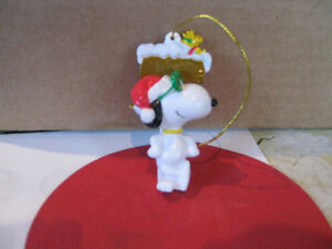Whitmans Snoopy Christmas Ornament