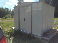 Upgraded Metal shed on skid frame! 8'X6' only year old!