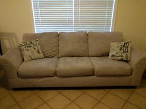 Tan Micro Fiber Couch