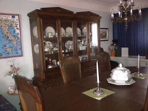 Dining Table, chairs and large hutch