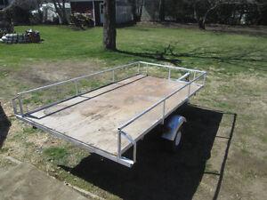 remorque,trailer,plate forme,5x10x1,$450.00, 514 234 9444