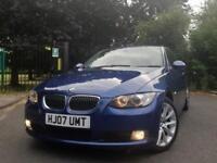 2007 Blue BMW 325i Automatic SE Coupe 2 Door E92 Auto Not 330i M Sport