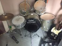 Custom Percussion Drum Kit (Excellent Condition)