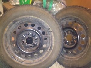 Snow tires 185/65/15 Kitchener / Waterloo Kitchener Area image 1