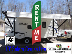 Spring Camping? RENT a TRAVEL TRAILER