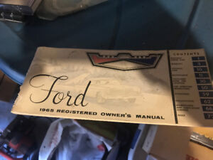 1965 Ford owners manual