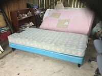 Single bed with clean comfortable mattress