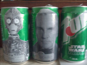 Collectible 7-up Star Wars Cans