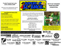 Superior Science Summer Camp-- Curriculum based activities