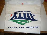 Super Bowl 43 Tampa Bay Size Large T-Shirt *NEW*