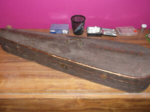 100 yr old violin case and bow's