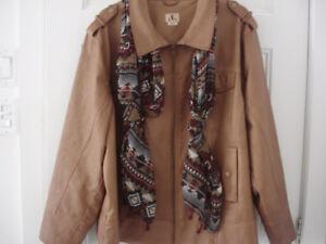 manteau simili cuir jamais porté grand 3x mais fait 2x