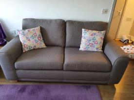 DFS grey 3 seater sofa