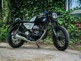 Hanway 125cc Black Cafe Racer retro street naked motorbike learner legal bike