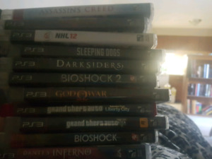 250gb ps3 slim + 11 games for $80 for 1 hr
