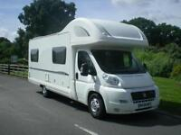 BESSACARR E495, 6 berth motorhome with 6 belts and rear lounge