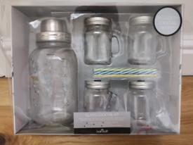 Glass cocktail shaker set