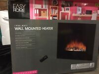 Electric Heater 1800w LCD Fire Effect Display