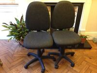 Two wheeled desk/office chairs