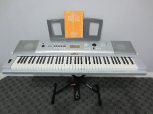 76-note YAMAHA DGX 230 Keyboard and Stand