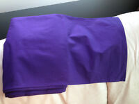 Rich, Royal Purple Table Runner and 2 White Table Cloths