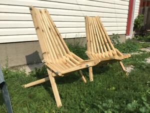 Cedar lawn chairs