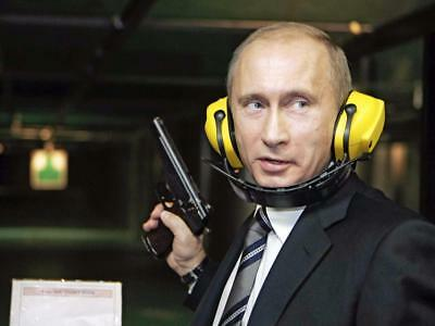 Vladimir Putin Pistol Glossy Poster Picture Photo Print Russian President 3170