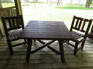 Northern White Cedar Table/Chairs