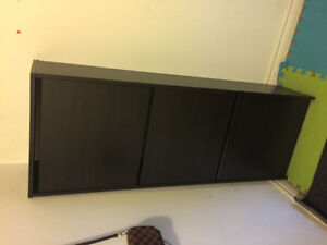 Brown wooden 3 drawer chest For shoes