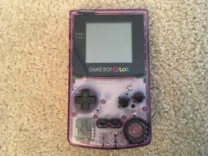 Nintendo Game Boy Color Atomic Purple Handheld System