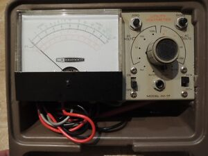 Vintage Circa Early 1970's Heathkit IM-17 Meter In Carry Case