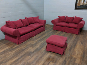 Sofa, loveseat and ottoman set. FREE DELIVERY​
