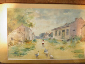 1897 Smithville Water Color Painting
