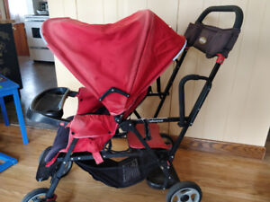 Joovy Family Gear Sit and Stand Stroller - Red