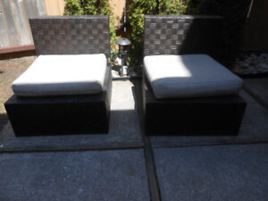2 ALLEN ROTH PATIO CHAIRs w CUSHION