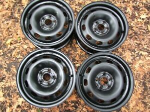 """SET OF 4- 15"""" STEEL RIMS 5x100MM CAN SELL SINGLE"""